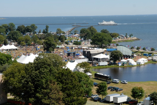 An aerial view of the festival. Photo courtesy of Gathering of the Vibes.