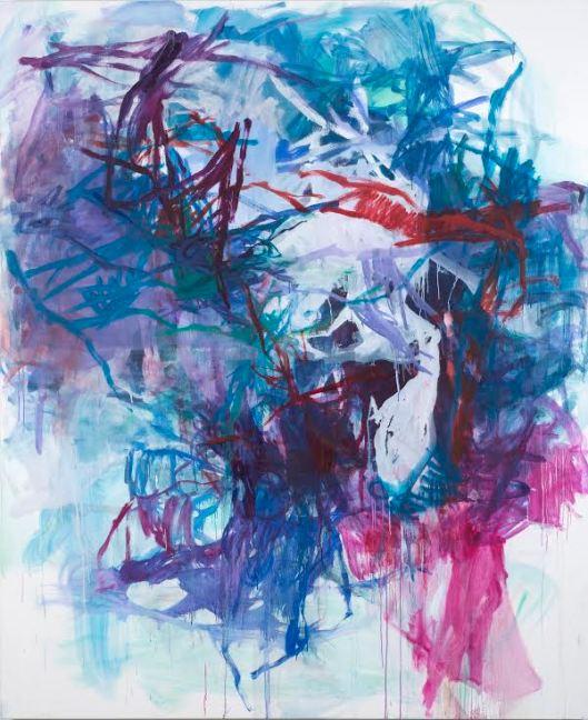 "Artwork by Elizabeth Gilfilen, Cleave, 2014, oil on canvas, 78"" x 64"""
